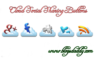 Cloud Social Sharing Buttons For Blogger Blog
