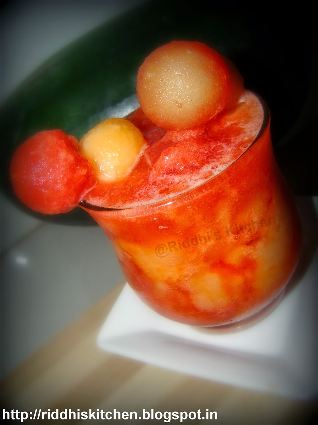 Food Gamut - New spectrum of Food: Melon Slush (watermelon+muskmelon)