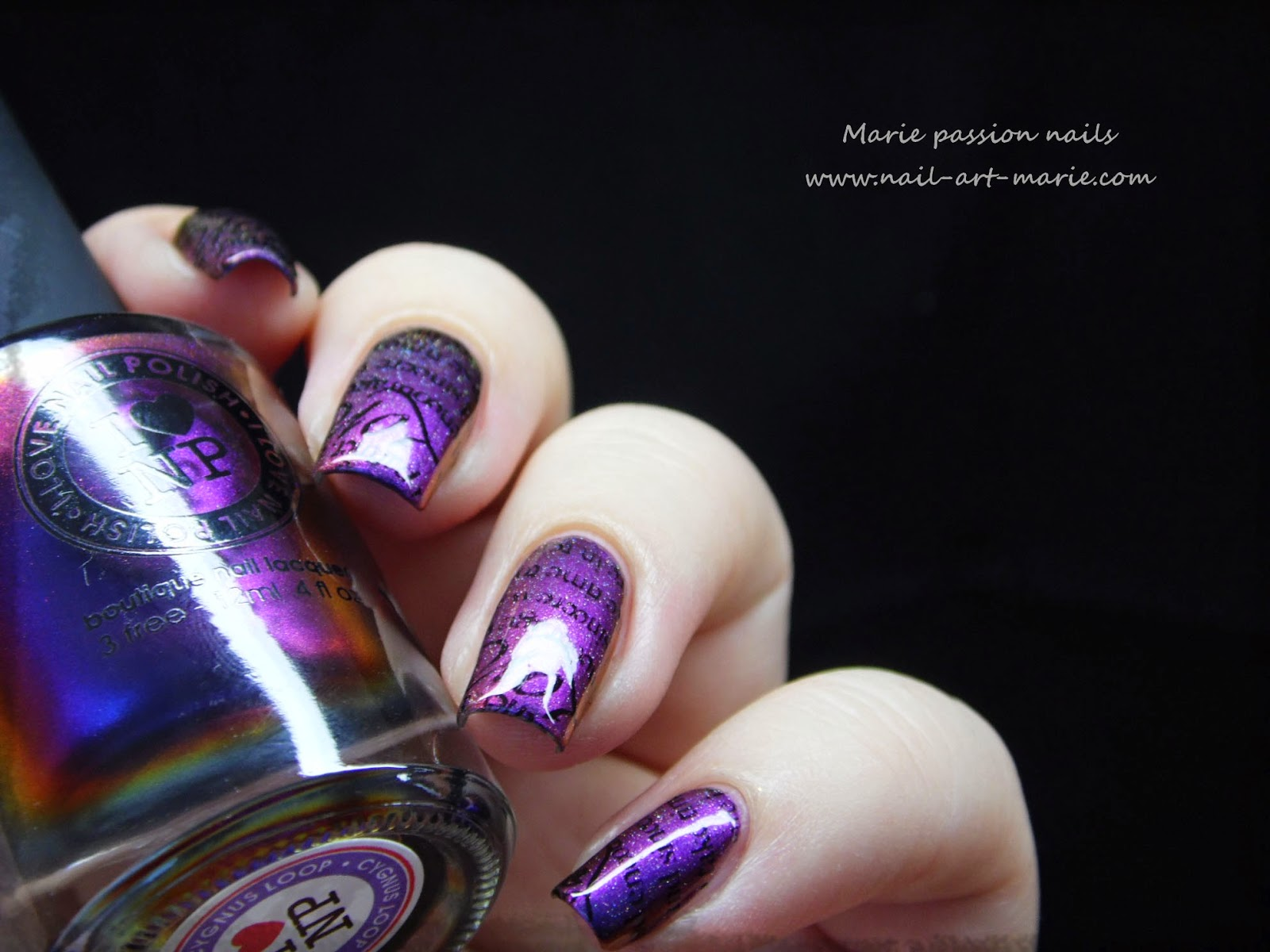 nail art stamping romantique8