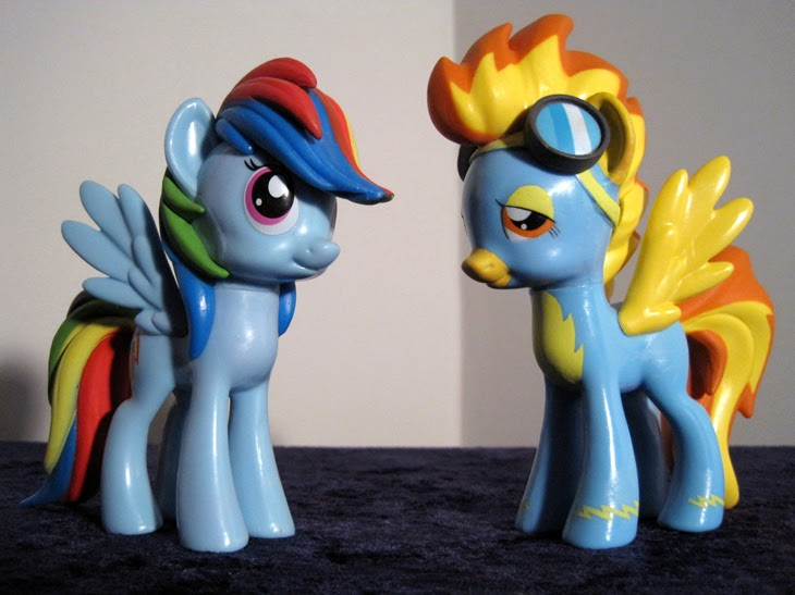 Funko Collectible MLP: FiM Rainbow Dash and Spitfire figures.
