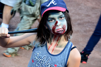 Zombie Night at Turner Field | Awesome Zombie Girl