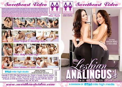 <p>Title: Lesbian Analingus 4 Year release: 2014 Country: USA Director: Dana Vespoli Studio: Sweetheart Video (Mile High Media) Genre: Lesbian, Rimming Duration: 01:52:26 Cast: Kirsten Pierce, Vicki Chase, Keira Kelly, Sinn Sage, Kimberly Kane, Dana Vespoli, Claire Robbins, Lola Foxx Quality: DVDRip Format: MP4 Video: MPEG4 Video (H264) 720&#215;404 23.98fps 1497kbps Audio: AAC 44100Hz stereo [&hellip;]</p>