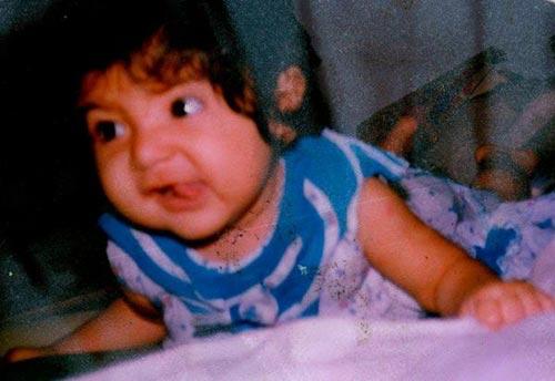 Anushka Sharma Childhood images