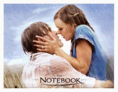 beso apasionado de la película The Notebook