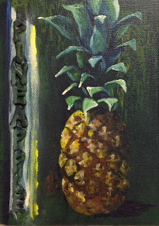Pineapple painting by artist Pamela Hunt Lee