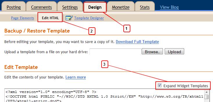 Design Edit Html Widget Templates