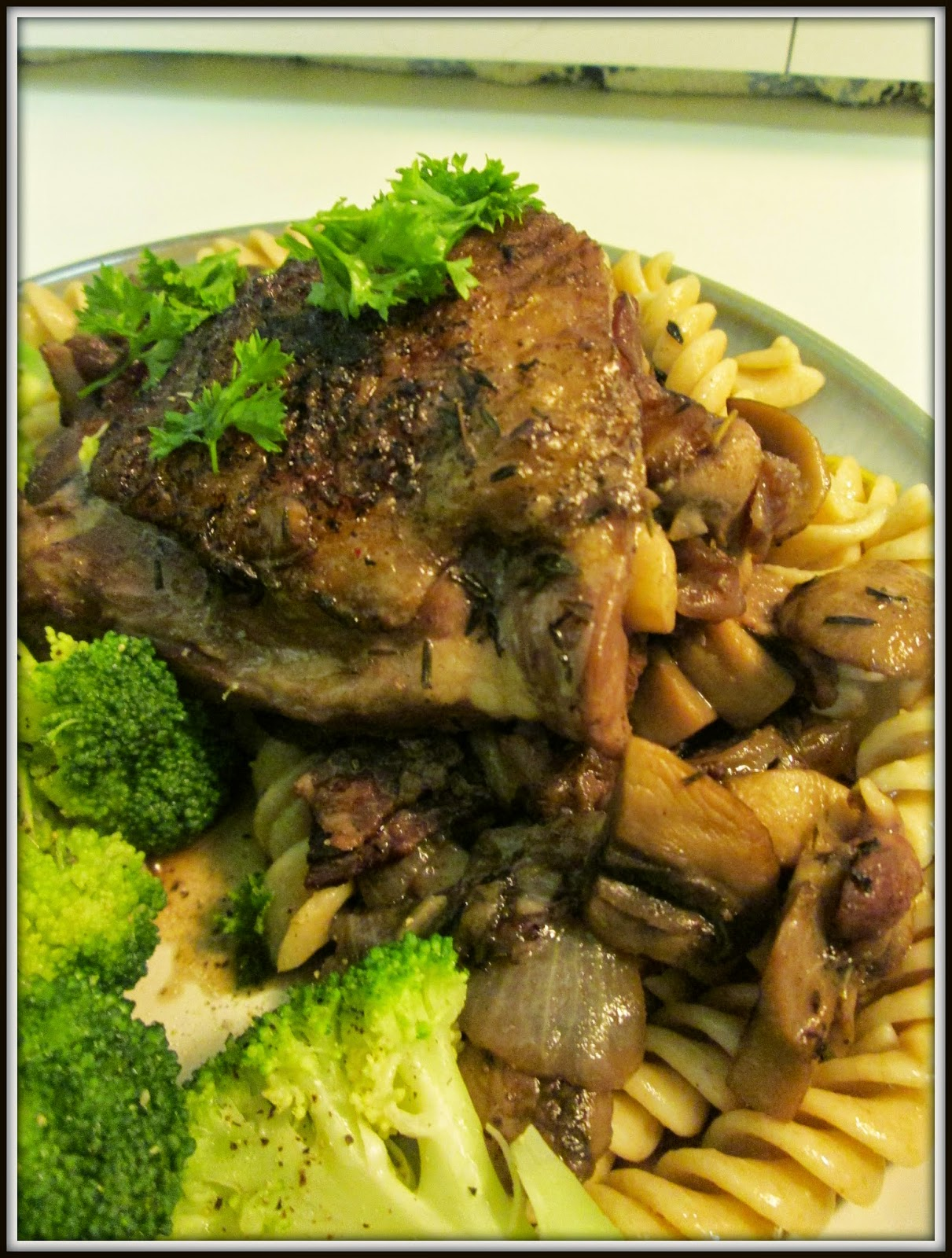 Coq au Vin (Rooster with Wine)