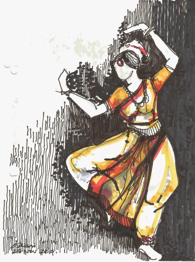 Kathak Dance Drawing Besides Dancing Kathak