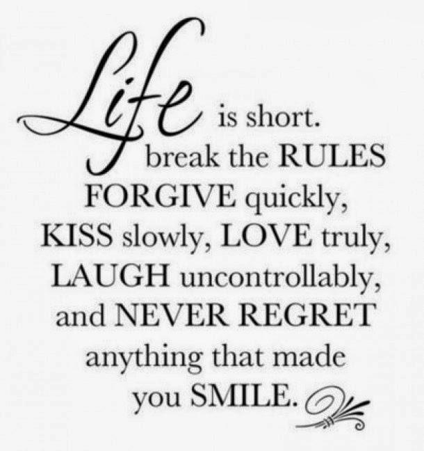 Vergeet niet te genieten