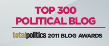 Libdemchild ranked 273rd best political blog by Total Politics