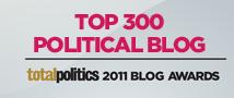 Libdemchild ranked 273rd best political blog by Total Politics