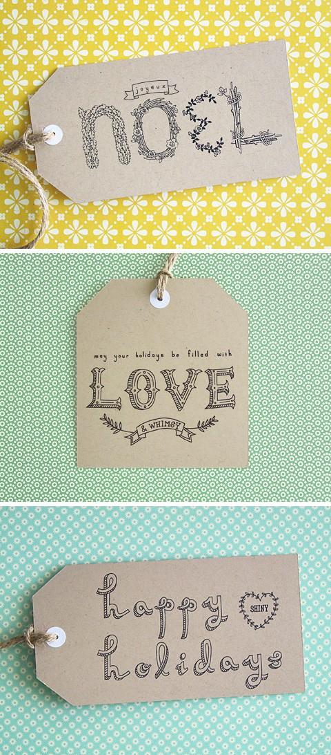 Wrap it Up! {Gift Tags} - Michaela Noelle Designs