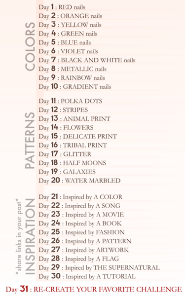 Squishy Dares List : 30 Day Challenge List - Aly Loves Lacquer