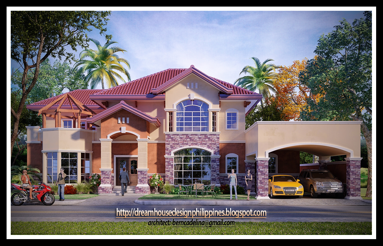 Mediterranean House Design on This Mediterranean House Image Is A Product Of 3d