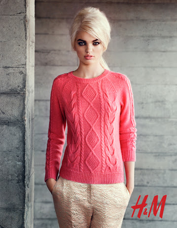 H&M Kazak, pembe kazak, mercan renkli kazak, kazak modelleri