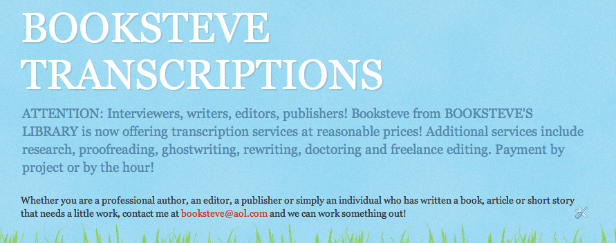 Hire Booksteve!