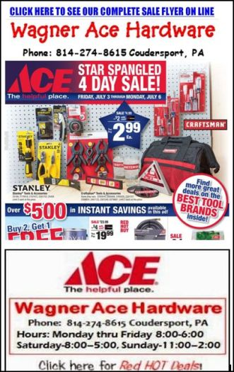 7-3/4/5/6 Wagner's 4 Day Sale