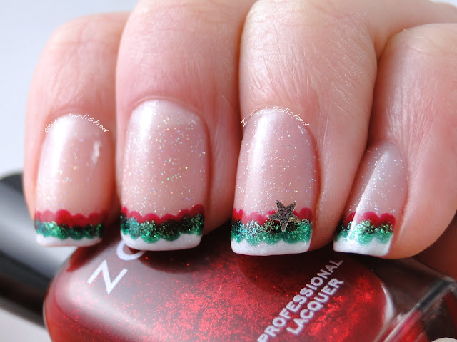 Holiday French Tip Nails