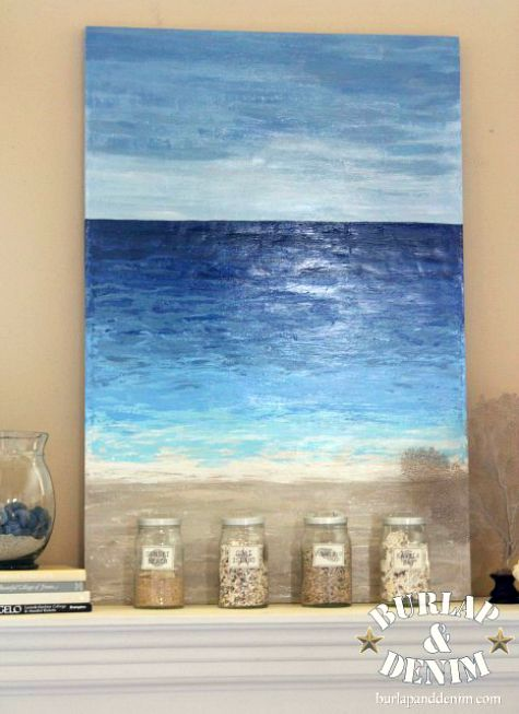 DIY Ocean Art with Crafts Paint