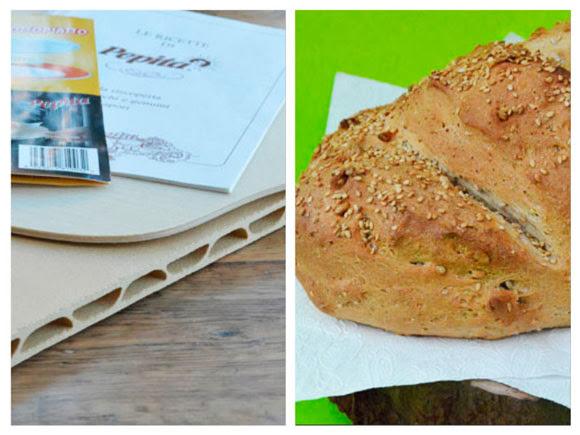 Brood en pizza bakken op een pizzasteen