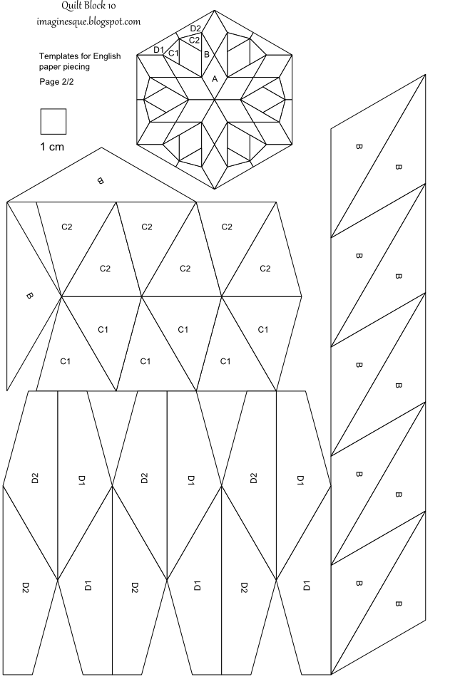 Quilt Patterns And Templates : Imaginesque: Quilt Block 10: Pattern and Template