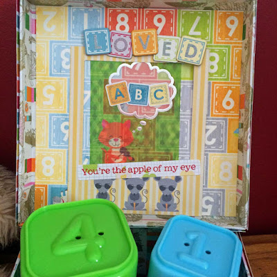 Altered Box by Lynn Shokoples for BoBunny featuring the Toy Box Collection