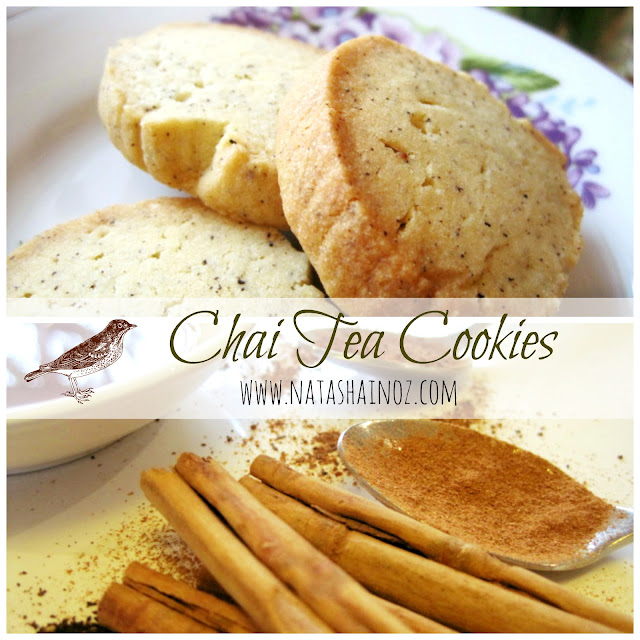 Caramel and Cashew Shortbread Cookie Recipe, Chai Tea Cookies #recipe