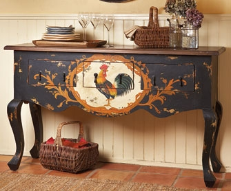 eye for design decorating with roosters for a french