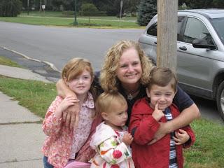 Karen Johnston and her grandchildren