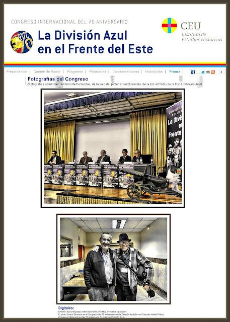 DIVISION AZUL-FOTOS-CONGRESO-ARTE-HISTORIA-PINTOR-ERNEST DESCALS
