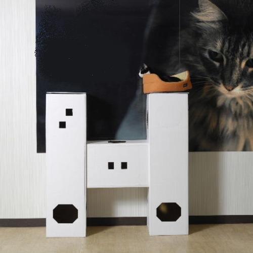 DIY貓咪塔屋 3箱型