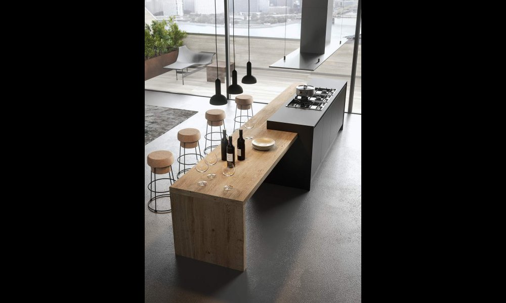 Cuisine gris anthracite for Cuisine design grise