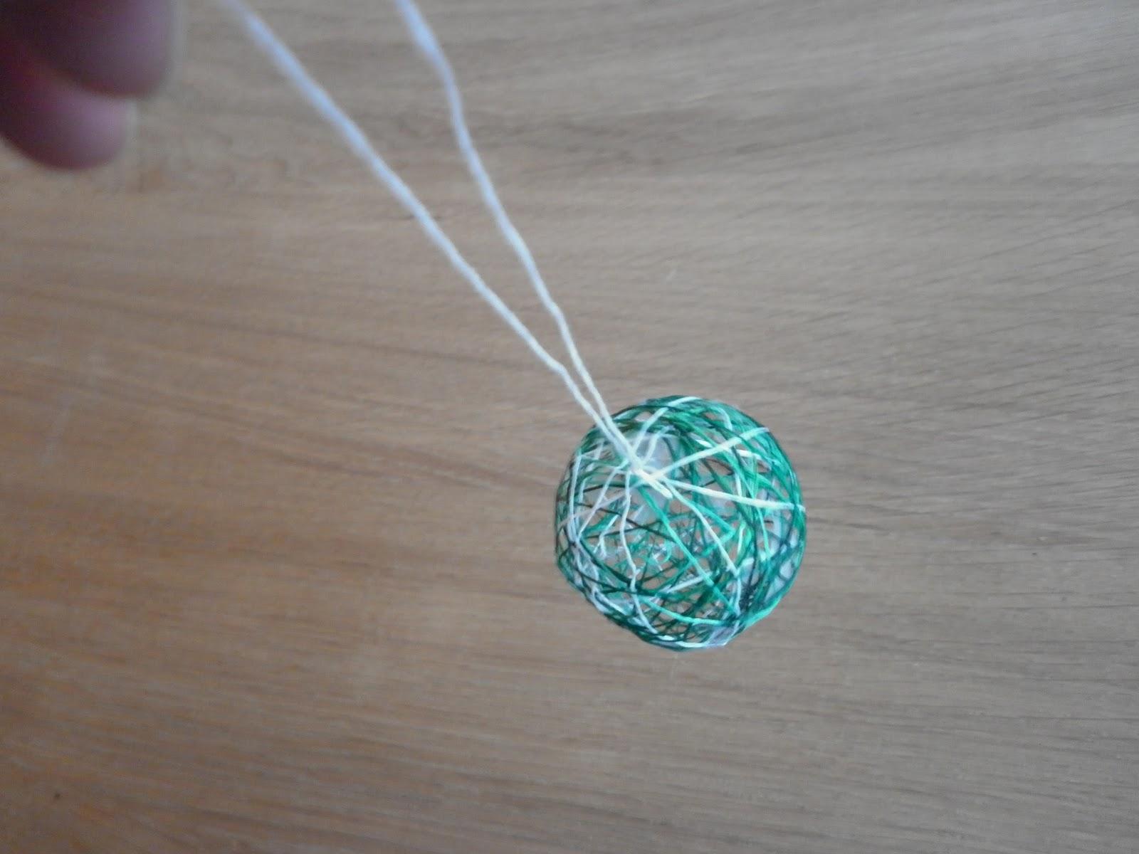 String ball ornaments