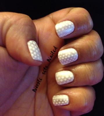 White Pearl Polka Dot Manicure