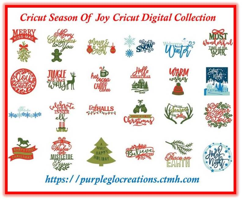 NEW CTMH Cricut Season Of Joy Digital Collection