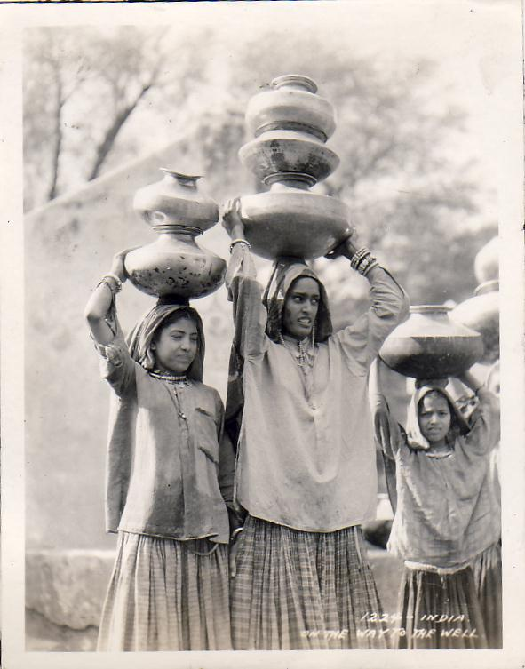 Girls are on the way to the well - Circa 1935