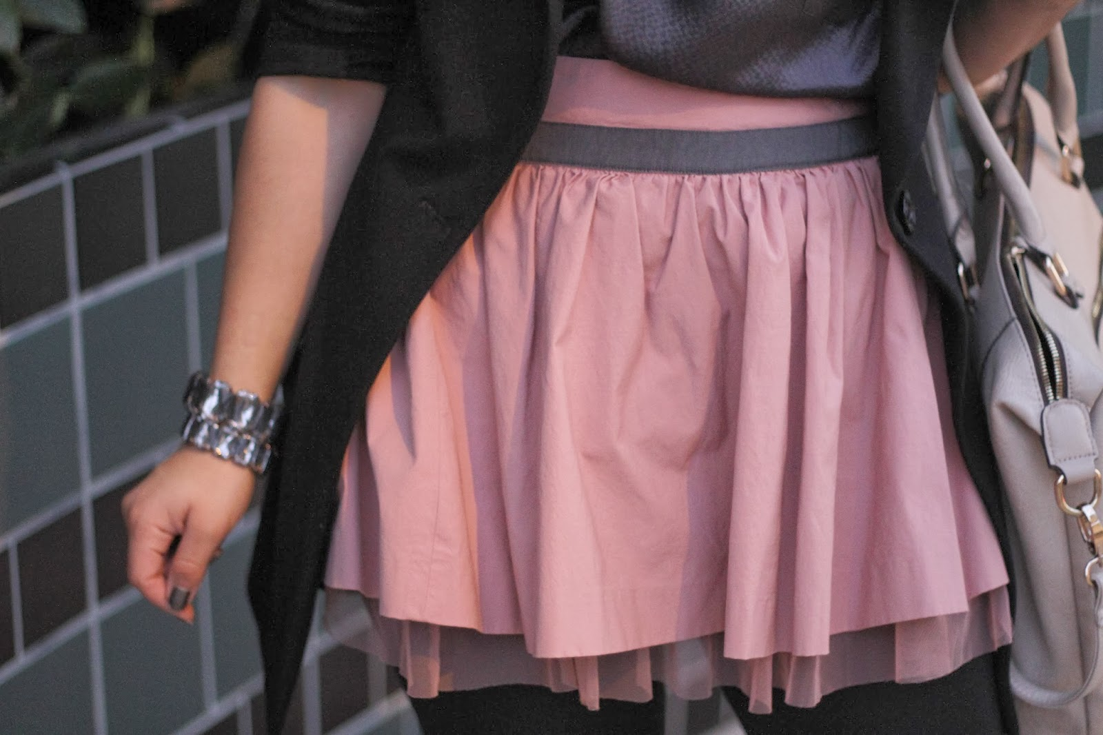 Pink Skirt with Tulle