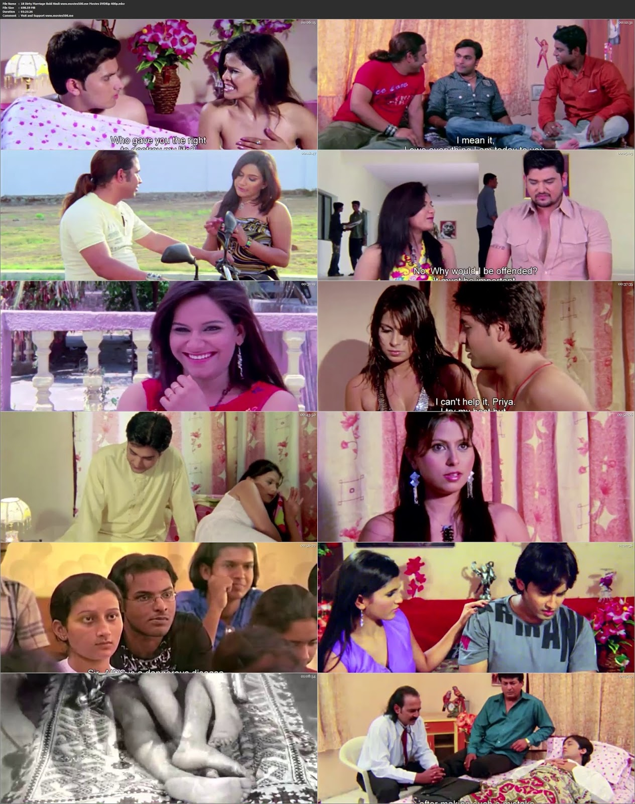 18 Dirty Marriage Bold UNRATED Hindi Movie DVDRip 720p
