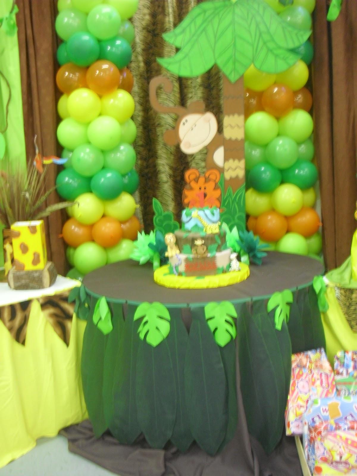 Ursula newman eventos fiesta infantil safari - Decoracion para fiesta infantil ...
