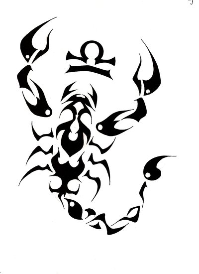 Tribal scorpion tattoos - photo#14