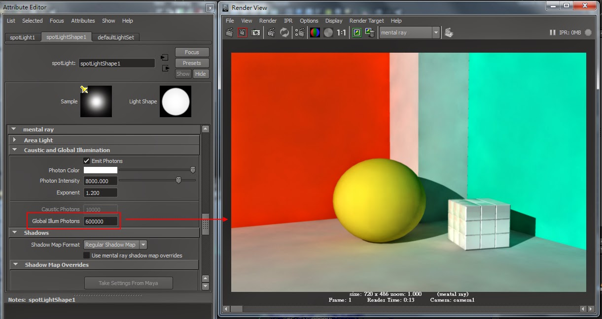 GI Render Setting in Maya H