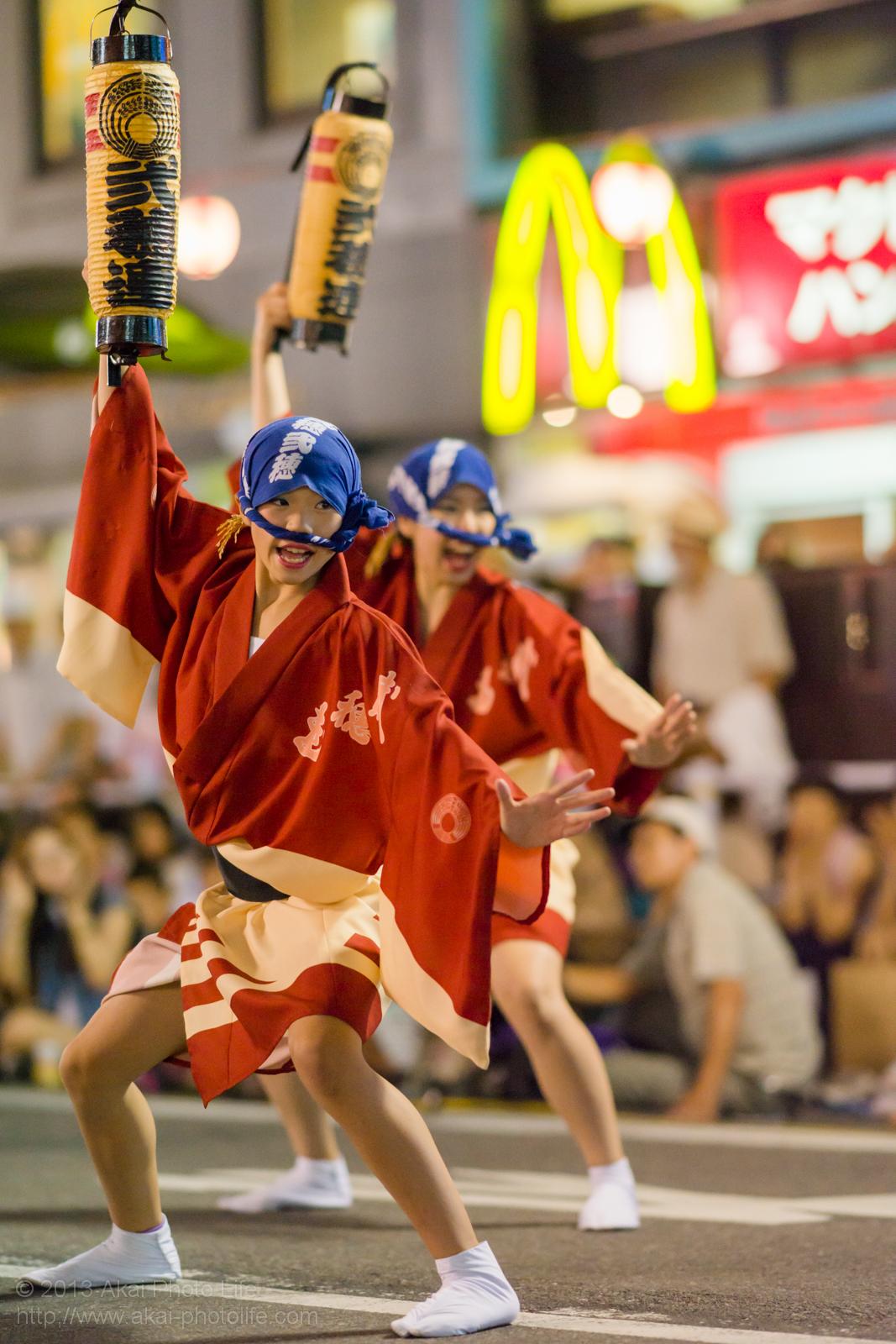 踊れ西八夏まつり、弐穂連の女性の男踊り