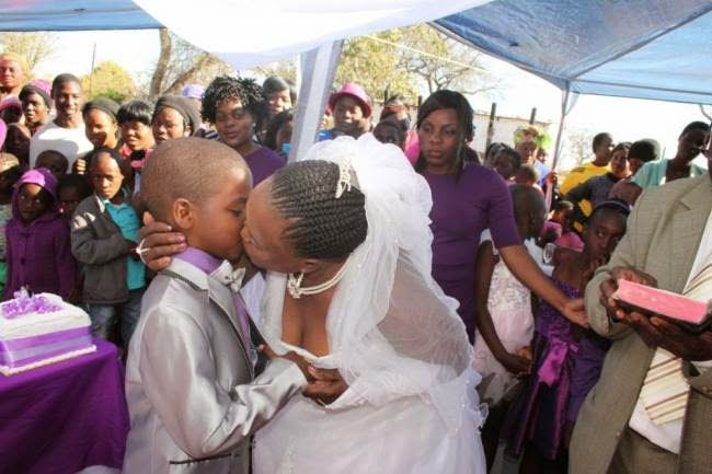 9-year old weds woman 62