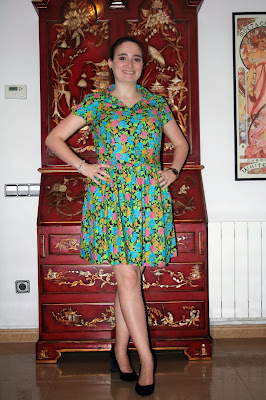 cami dress modistilla de pacotilla tela flores paris
