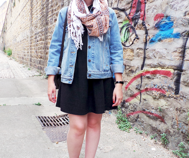 blog mode vintage lyon veste jean levi's bottines
