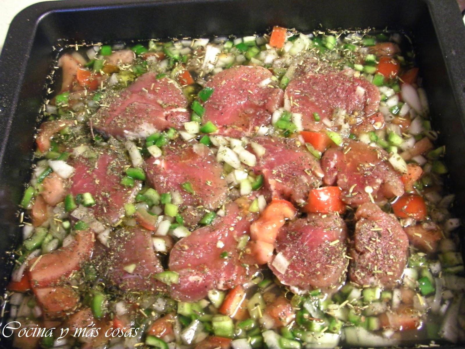 Cocina y m s cosas solomillo de cerdo al horno con verduras - Solomillo de ternera al horno con mostaza ...