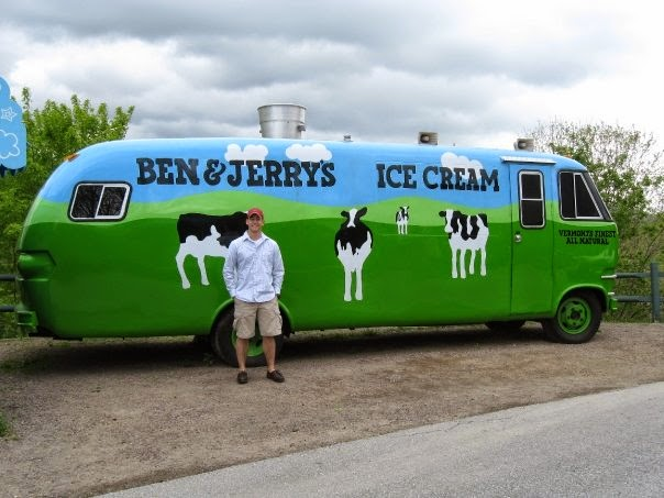 Ben and Jerry's Factory Tour, Tour Bus, ice cream bus, Stowe Vermont things to do