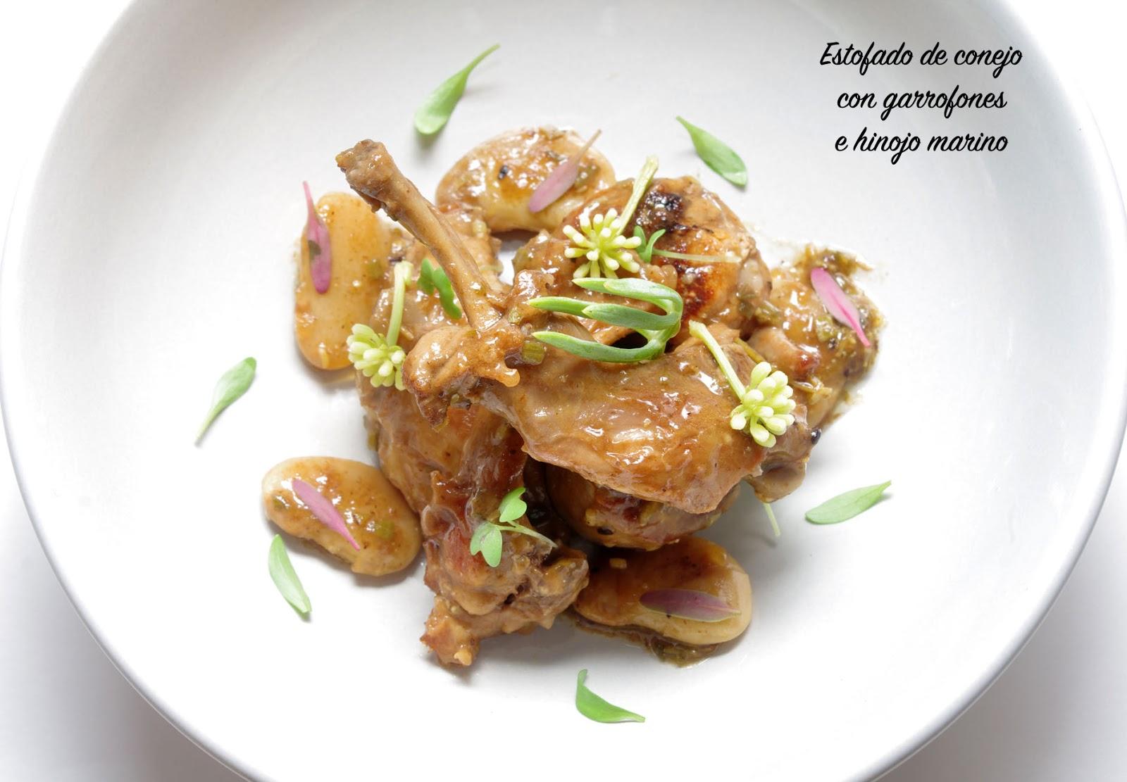 Fentdetutto: Estofado de conejo con garrofones e hinojo marino