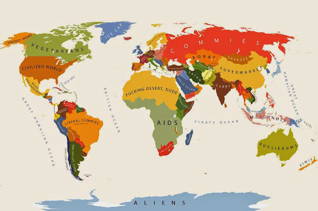 World stereotype map
