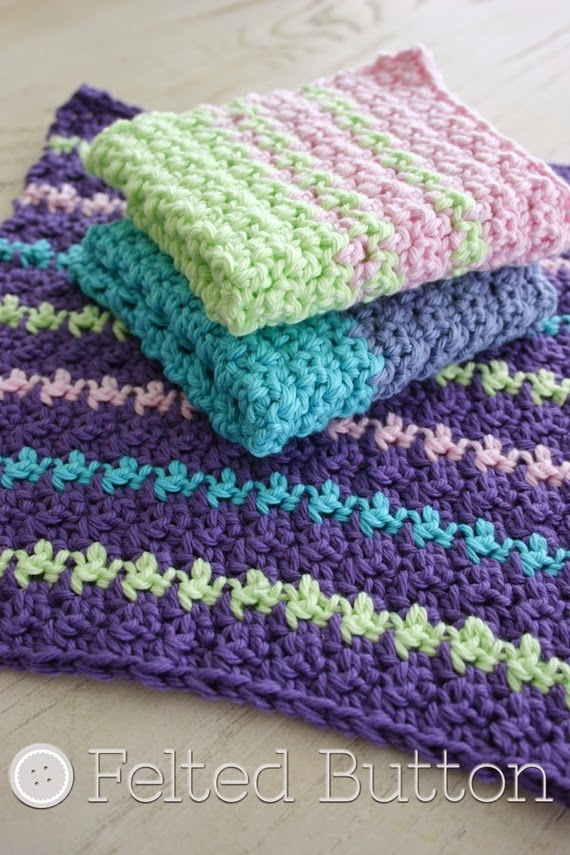 Mama's Wash Cloth Free Crochet Pattern by Susan Carlson of Felted Button